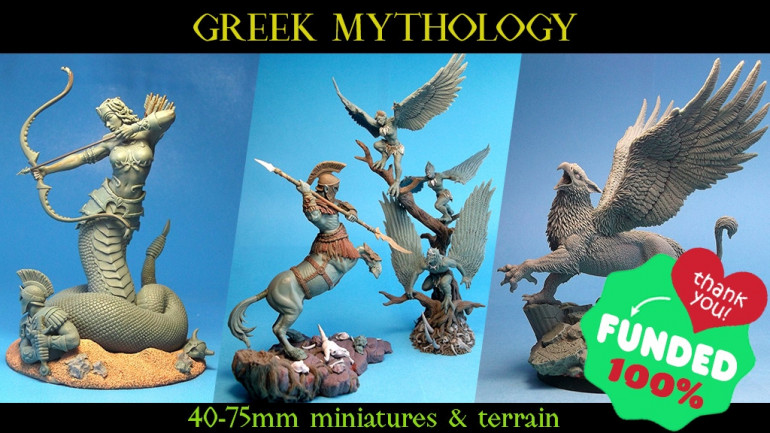 Greek Mythology: 40-75mm Miniatures & Terrain