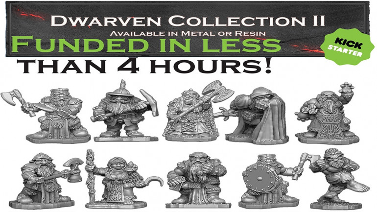 28mm Fantasy Dwarven Miniature Collection II
