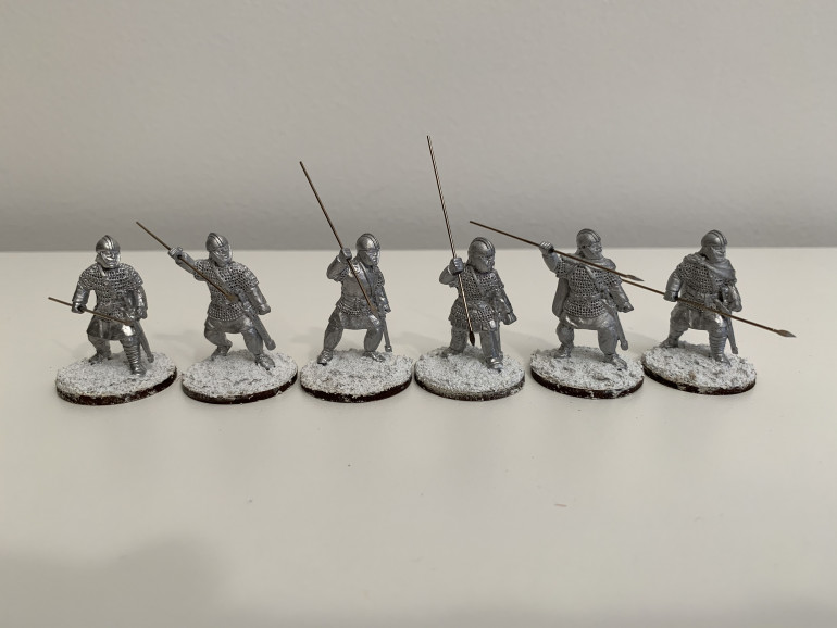 Milites Group Two - cleaned and attached to their bases