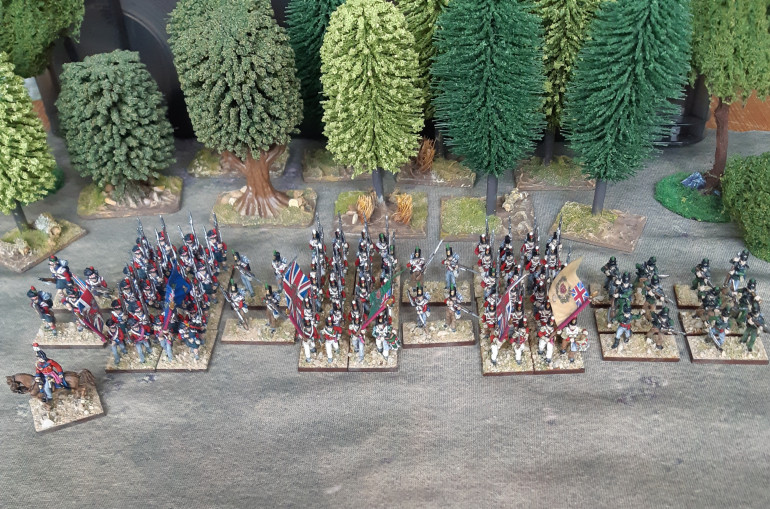 Battalions of the 42nd, 24th and 61st regiments, plus some supporting riflemen from the 95th.