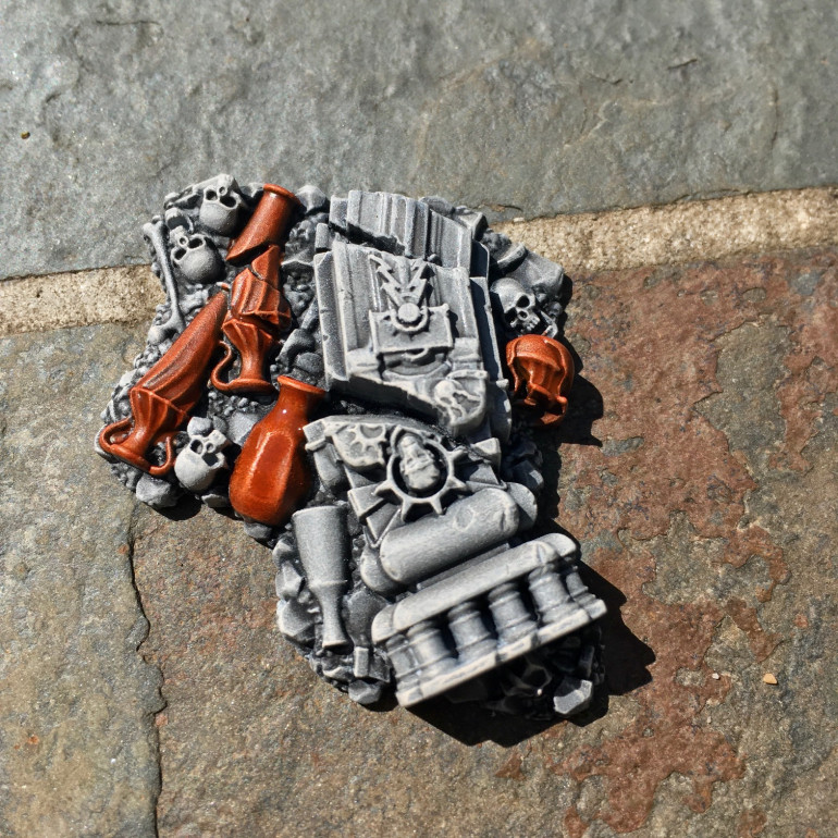 Here, I've applied Gryph-hound Orange Contrast on all the Terracotta/brick elements