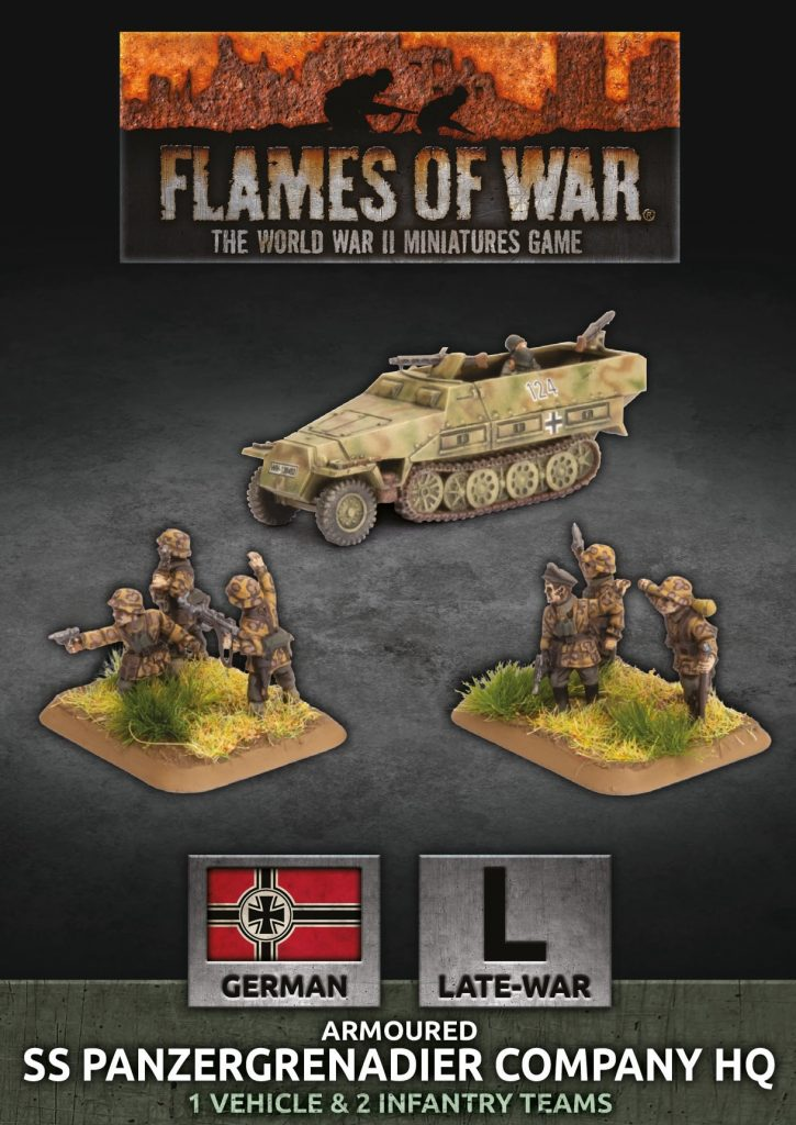 Armoured SS Panzergrenadier Company HQ - Flames Of War