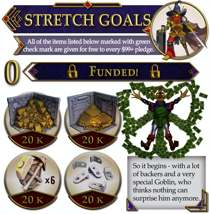 Dungeons & Lasers Stretch Goals - Archon Studio