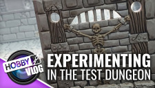 VLOG: D&D Display Dungeon Part #5 | Experimenting In The Test Dungeon #DungeonBuild