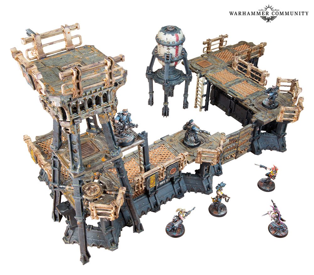 Gang Stronghold Terrain With Miniatures - Necromunda
