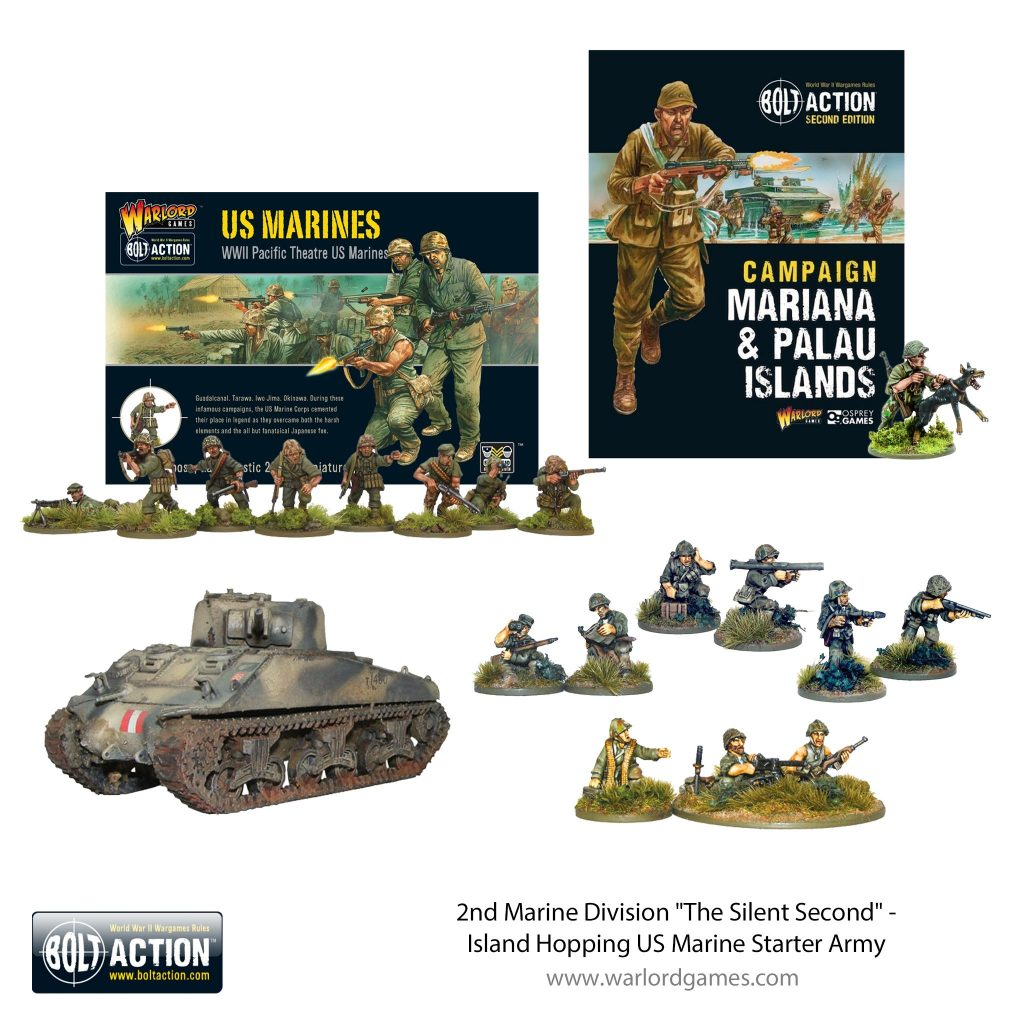 The Silent Second US Marine Starter Army - Bolt Action