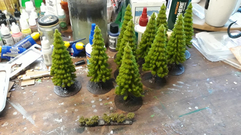 Free-standing trees. Also playing with hedges in the foreground.