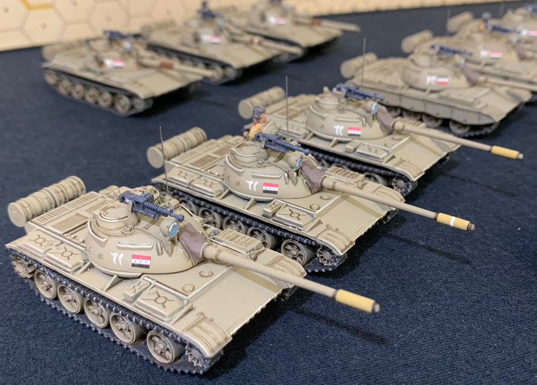 First platoon of T-55s  I had to do the best I could with T-54s from the Syrian