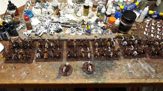 Vallejo Brown Mud onto the cavalry bases