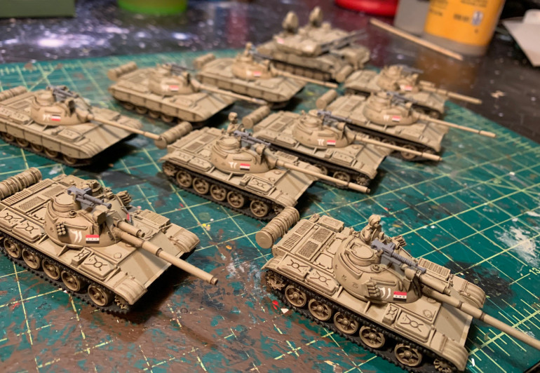 Little bit more work required on these guys, including stowage, commanders, secondary weapons, etc.