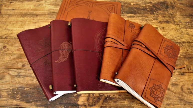 Refillable Leather Notebooks For Gamers & Geeks