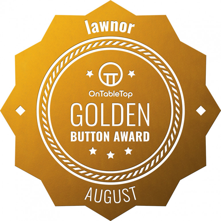 Golden Button!  (Great for ego, not so great for camouflage)