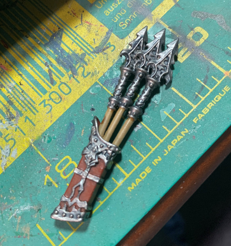 I even tackled the spear pouch/quiver for one of my warbeasts!