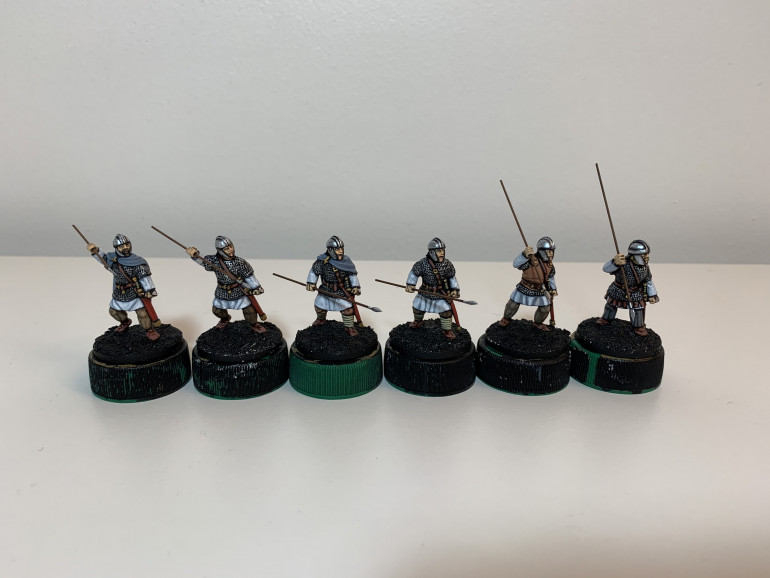 The finished models awaiting their shields and basework