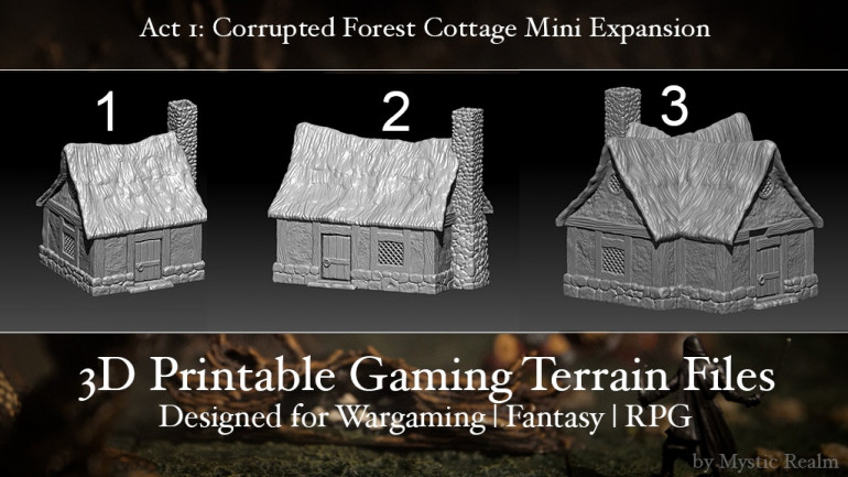 Mystic Realm's Cottage Mini Expansion Act1: Corrupted Forest