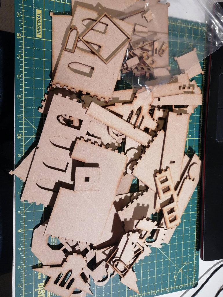 A pile of mdf, cut to my design