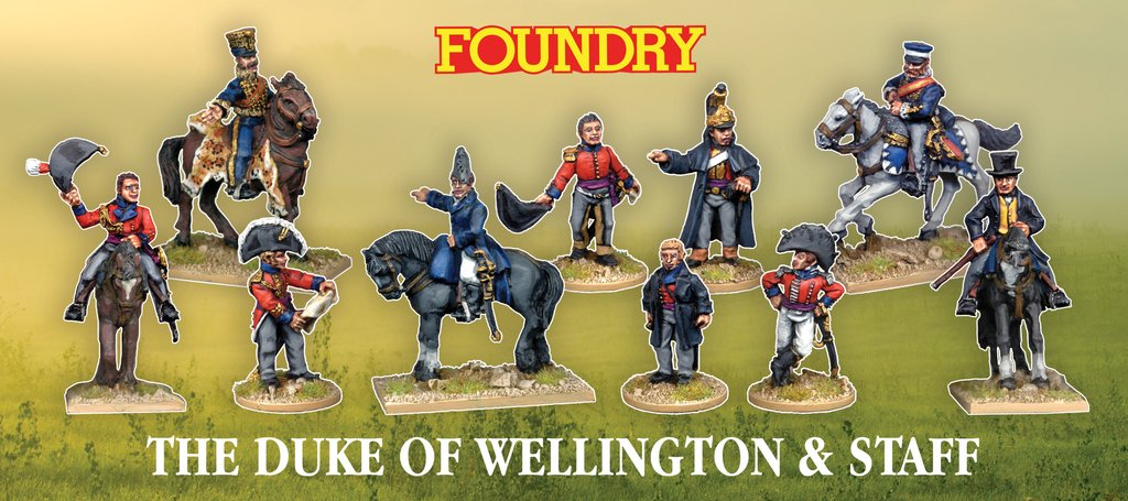 Duke of Wellington and staff Wargames Foundry