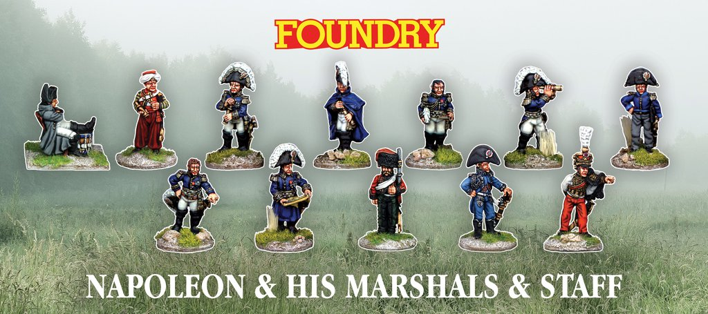 Napoleon and staff Wargames Foundry