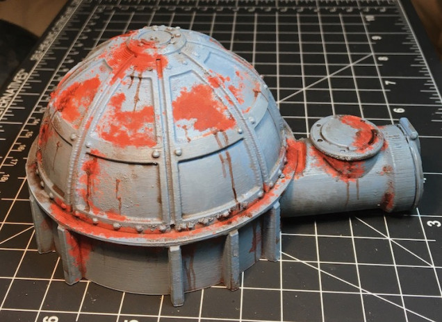 I then used Secret Weapon Armor Wash to add grime and streaks.
