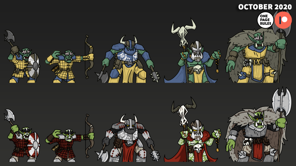 2D Fantasy Orcs - OnePageRules