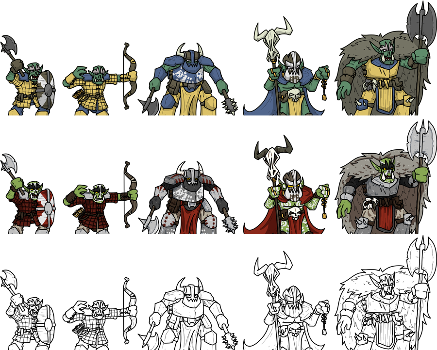 2D Fantasy Orcs Variants - OnePageRules