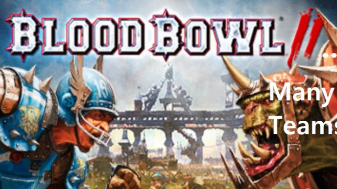 Blood Bowl = an over dose of Teams