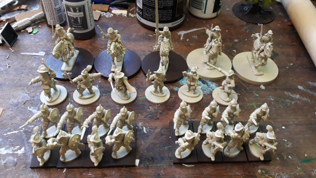 This weekend's assembly - Swordsmen in the foreground are to be added in at some stage but not aiming to get them done as part of the initial cohort so will leave until after the deadline...
