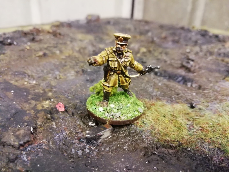 Kitchener the one command figure who should always be pointing. I'll be using this Giants in miniature figure as a standard officer for my British forces