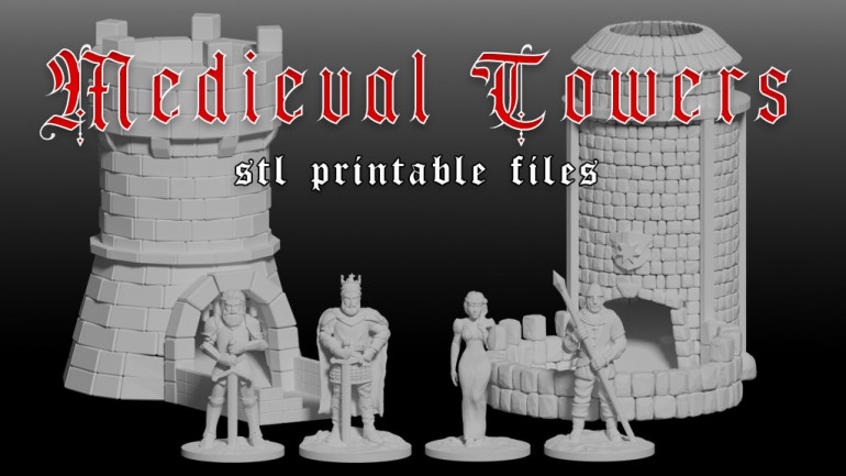 Medieval Dice Towers - STL Printable Files