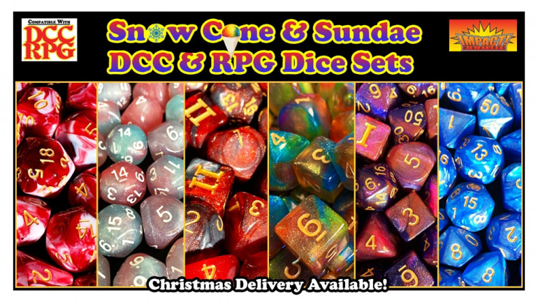 Snow Cone & Sundae DCC & RPG Dice Sets