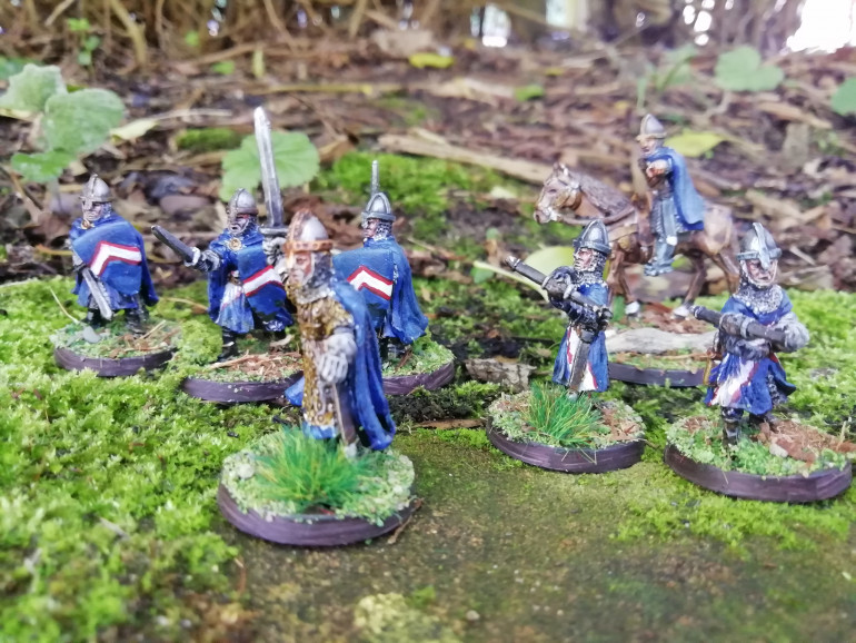 Guy if Gisborne leading my warband. To he thing I enjoyed most with this project was the basing if the minis