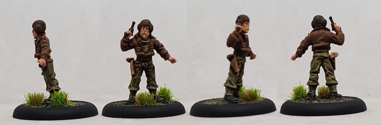 Donald, from Studio Miniatures.  Based on Oddbal from Kelly's Heroes a splayed by Donald Sutherland.  I'd never seen the film before but ended up watching it after finishing him.  Pretty good.  I imagine someone somewhere is pitching a remake.