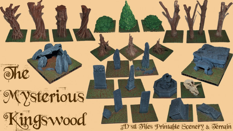 The Mysterious Kingswood – 3D Printable Scenery & Terrain