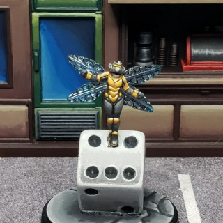 Wasp ready to go. The conversion with the dice was really fun to do.
