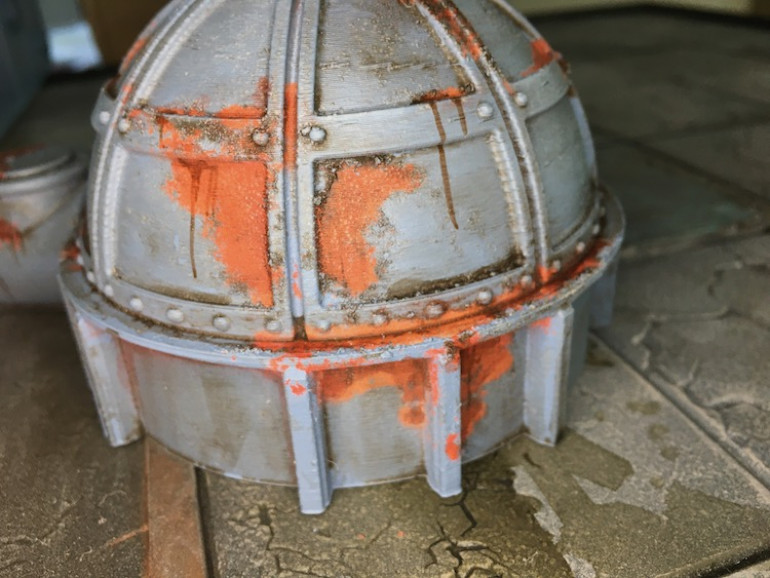 I like how the remaining salt under the primer looks like rust is building up under the paint.