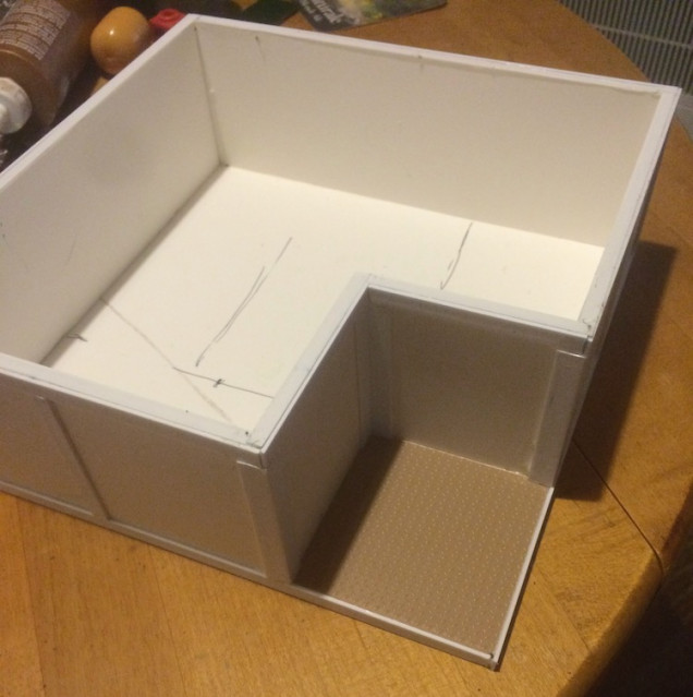 I'm using thin strips of plastic every three inches with slightly thicker pieces around the base.