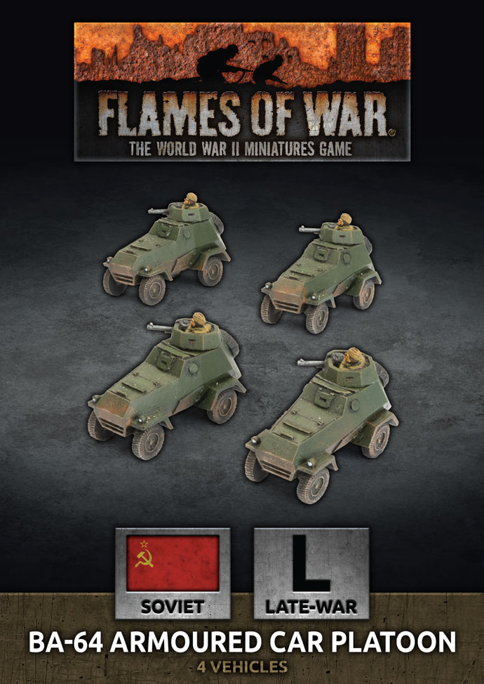BA-64 Armoured Car Platoon - Flames Of War