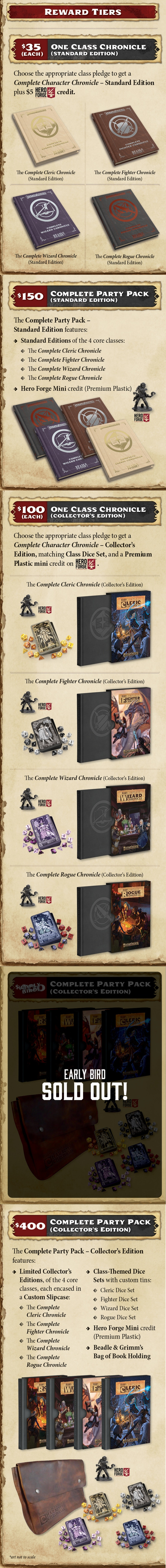Character Chronicles Reward Tiers - Beadle & Grimms