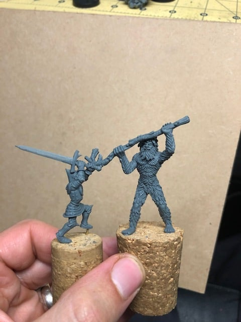 Fight In The Forest - Antediluvian Miniatures