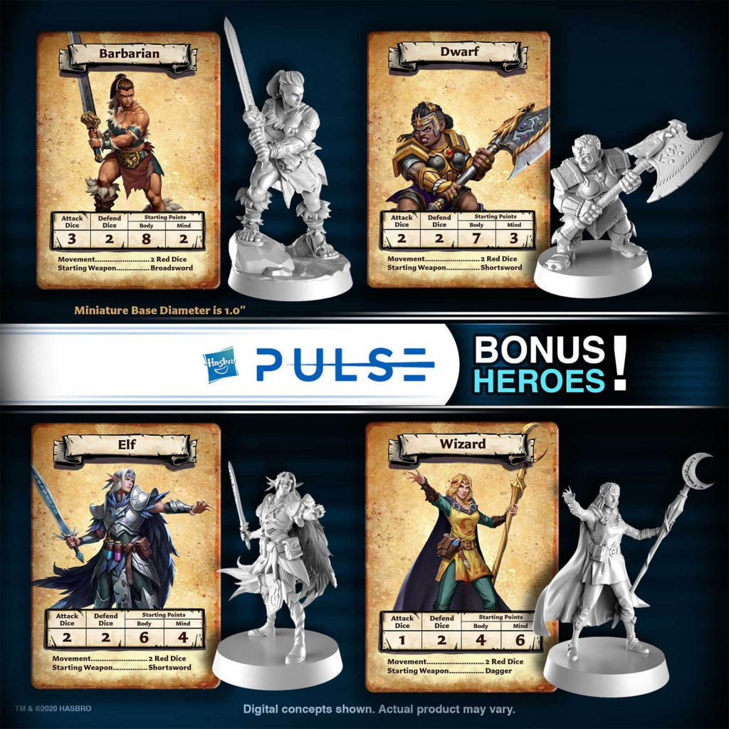 HeroQuest Pulse Heroes - Avalon Hill