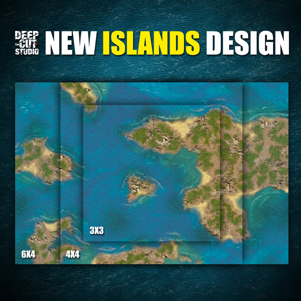 Island Game Mat - Deep Cut Studio