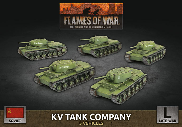 KV Tank Company - Flames Of War