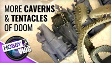 VLOG: D&D Display Dungeon Part #6 | Extra Cavern Height & Tentacles Of Doom #DungeonBuild