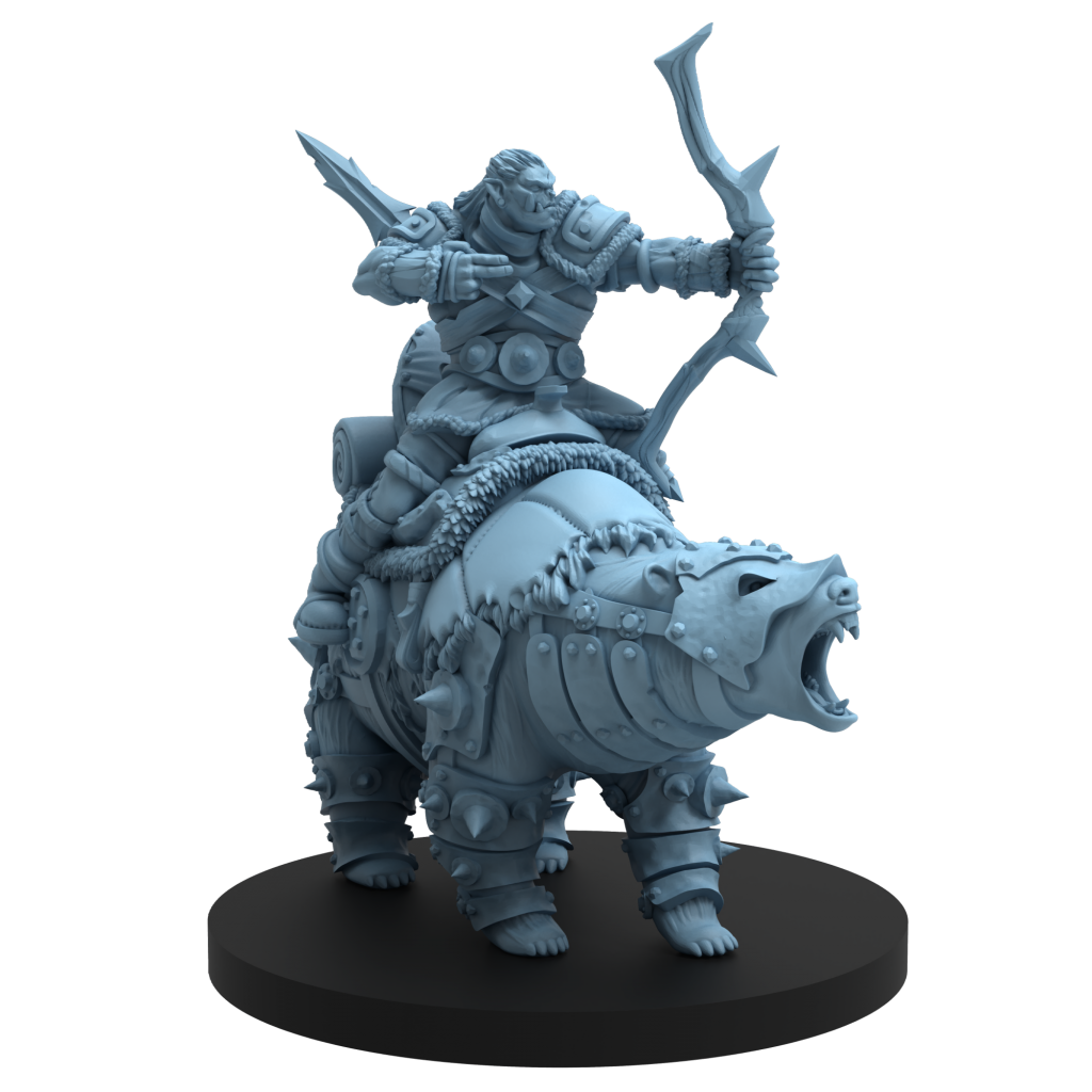 Orc Bear Rider - Steamforged Games
