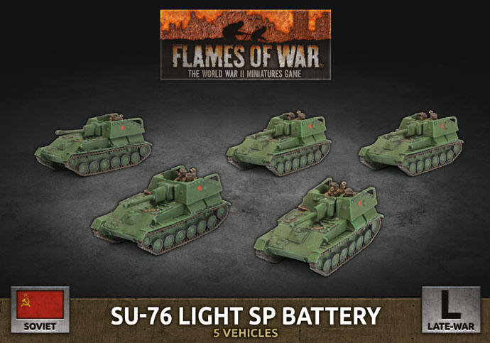 SU-76 Light SP Battery - Flames Of War