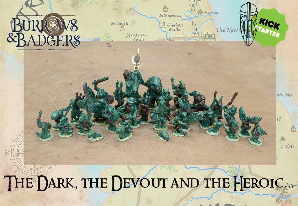 The Dark The Devout & The Heroic - Burrows & Badgers