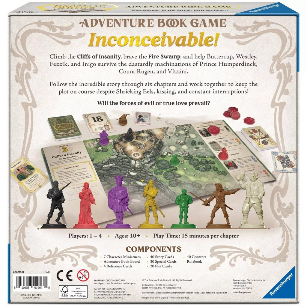 The Princess Bride Adventure Book Game Contents - Ravensburger