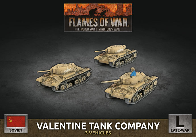 Valentine Tank Company - Flames Of War