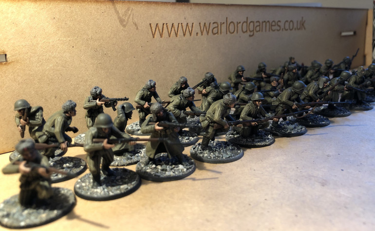 Around half of the Soviet infantry from the box are complete!