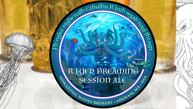 Cthulhu Art Drink Coaster 4: R'lyeh Dreaming Session Ale